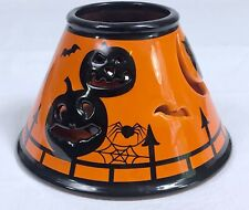 Halloween Ceramic Lamp Shade Candle Topper Bath Body Works White Barn Candle Co.
