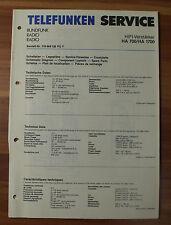 HIFI-Verstärker HA700 HA750M HA1700 Telefunken Serviceanleitung Service Manual