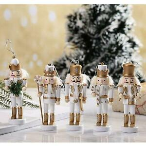 5x Wooden Soldiers Nutcracker Christmas Party Soldier Doll Ornaments Home Decor