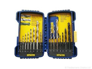 Irwin 10850 HSS/Masonry/Brad Point Drill Bit Set in Tough Case Metric 15-Piece