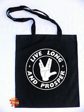 LIVE LONG AND PROSPER spock star trek nimoy cotton shopper Tote Bag