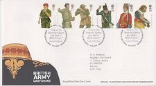 TALLENTS PMK GB ROYAL MAIL FDC 2007 BRITISH ARMY UNIFORMS STAMP SET