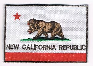 NEW CALIFORNIA REPUBLIC FLAG COSPLAY FALLOUT PATCH SIGN NCR VEGAS