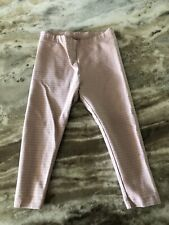 Tea Collection Baby Girl Leggings Pink Gold Sparkle Stripe Size 18-24 Months