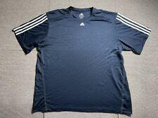 Adidas Mens T Shirt Size XX Large Blue Adult T Shirt XXL Soccer Navy Jersey