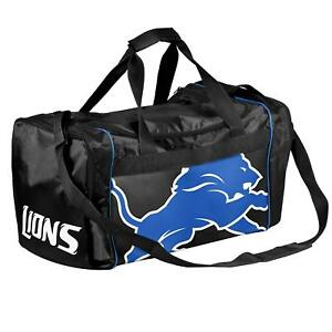 Detroit Lions Duffle Duffel Bag Gym Swimming Carry On Travel Luggage Tote NEW