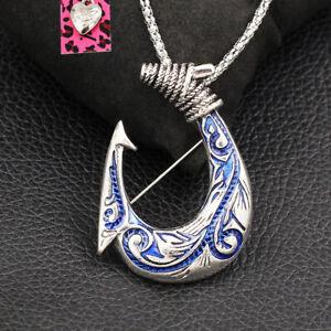 Betsey Johnson Fishing Hooks Fishhook Pendant Sweater Chain Necklace/Brooch Pin