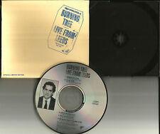 Marc of BLACK CROWES BURNING TREE 1990 Rare LIVE from Leeds PROMO DJ CD Single