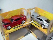 2006 Chevy Camaro Concept red silver model cars diecast Dub City Kustoms Jada