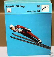 Esquí volando Tony innauer Nórdico Esquí Tarjeta de Coleccionista
