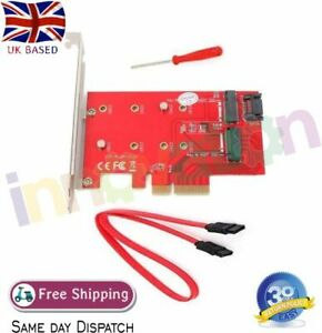 4X PCI-e Express Card Expansion Converter Adapter For M2 B+M Key SSD 2 Port NGFF