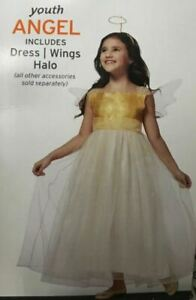 Target Girls Youth Child Angel Princess Halloween Dress Up Wings Costume L 10-12