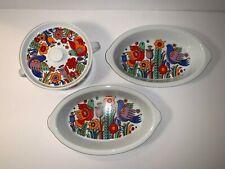 Royal Crown Porcelain Ovenware Paradise - 3 Pieces - VGC