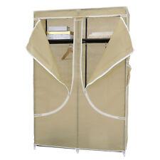 "43"" Portable Closet Storage Organizer Clothes Rack Hanger Wardrobe Hanging Rail"