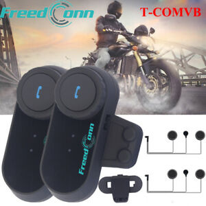 Freedconn BT Motorcycle Helmet Intercom Bluetooth Headset 3 Rider FM HiFi System