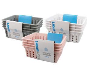 4 x Pack Plastic Handy Baskets Kitchen Home Office Storage Basket Organizer