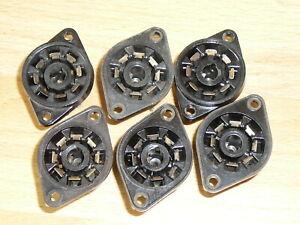 Vintage Philips Tube Sockets for Tubes EBL21,UBL21,EF22,ECH21,UCH21 etc.