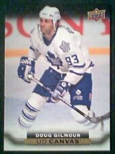 DOUG GILMOUR 15/16 AUTHENTIC UDS2 CANVAS RETIRED STARS INSERT CARD SP