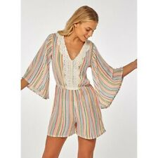 BNWT Dorothy Perkins Beach Kaftan Playsuit Striped Size Large 14/16
