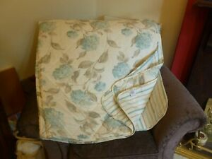 Laura Ashley Duck Egg Blue Hydrangea Single Bed Quilted Cover Excellent Cond
