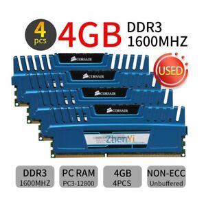 16GB 8GB 4G DDR3 1600MHz CL9 240Pin Dimm Desktop Memory RAM Corsair Vengeance BT