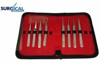 Eyelash Tools: Eyelash Extensions Jeweler Style Tweezers Kit 8 Pieces