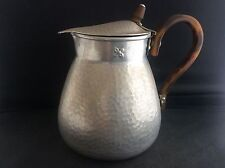 Rare NCJ LTD Aluminium TIN Water Jug Faux Tortoiseshell Handle & Knop 1895 PatNo