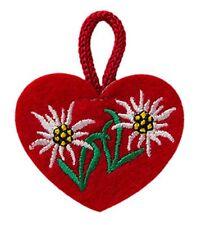 Corazón rojo con Edelweiss Edelweiss-Patch aufbügler Patch aplicación #9230