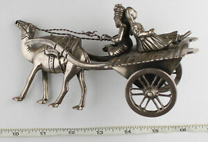 Vintage Central Asia/Middle East 90% Silver Silverware Camel, Man & Women Nice!