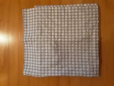 Shower Curtain Blue and White Plaid