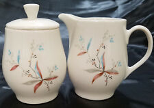 Vtg Finesse by Syracuse China Covered Sugar and Creamer Set (circa 1958-67)