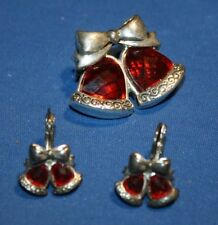 Christmas Bells Pendant with Matching Earrings