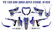 N032 YAMAHA YZ 125-250 2002-2013 Autocollants Déco Graphics Stickers Decals Kits