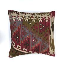 Handmade Kilim Cushion Cover, Kelim Pillow 50x50 cm Turkish Moroccan