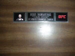 ROSE NAMAJUNAS (UFC) ENGRAVED NAMEPLATE FOR PHOTO/POSTER/GLOVES/TRUNKS