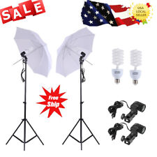 Photography 5500K Photo Studio Lighting Kit Set+2 Stand Soft Light Umbrella V8I8