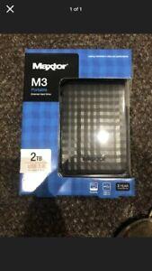 Maxtor M3 Portable External Hard Drive 2TB. Brand New