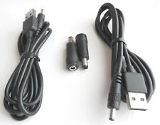 2x USB A Male to 3.5mm Jack + 3.5mm Female to 5.5mm Male Converter