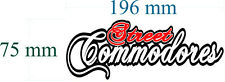 street commodore decal RED 196mm by 75 Mm gloss laminated sticker SCRIPT