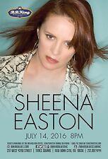 SHEENA EASTON 2016 NEW YORK CONCERT TOUR POSTER - Pop, Dance, R&B, Country Music
