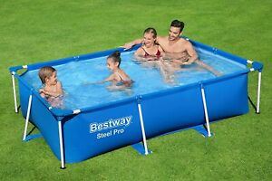 Bestway Swimming Pool Steel Pro Rectangular Frame Pool 2 Size Free Fast Delivery