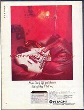 HITACHI AMPLIFER (ELECTRIC GUITAR)  Vintage Original ADVERTISEMENT. Free UK Post