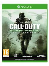 CALL OF DUTY: MODERN WARFARE REMASTERED XBOX ONE NEW  DISPATCHING TODAY BY2 P.M.