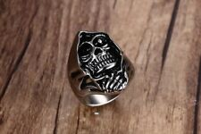 Sons of Anarchy Grim Reaper Classic Skull Silver Rider StainlessSteel S8-13 Ring