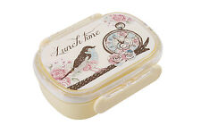 New Small Lunch Snack Box - Vintage Look Bird Pocket Watch Posies