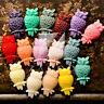 4/16pcs Resin Flatback Cabochon Cameo Cute Owl Embellishment Glue On Setting
