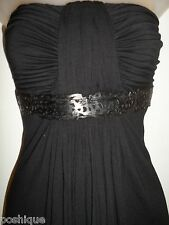 Sky Clothing Brand XS Little Mini Dress Black Leather Club Party Spring NYE