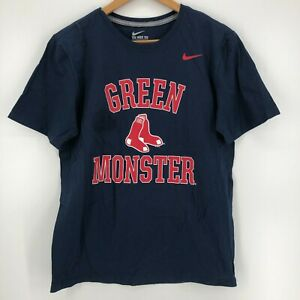 Nike T-Shirt Men's M Blue Boston Red Sox Green Monster MLB Baseball