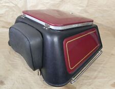Vetter Tail Trunk K54 Black Red Panels with Key  #2113
