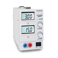 PeakTech 6080 Digital Labornetzgerät 0 - 15 V / 0 - 3 A DC Power Supply Netzteil